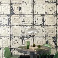 Brooklyn Metal Tins Wallpaper by Merci by The Orchard