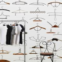 Obsession Hangers Wallpaper Roll by Daniel Rozensztroch by The Orchard