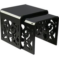 Acrylic Lace Nested Tables in Black or White