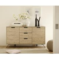 Palma Two Door and Three Drawer Sideboard - Sherwood Oak finish