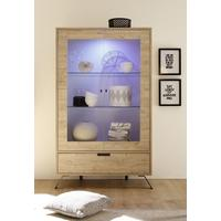 Palma Vitrine with Internal LED Spotlight - Sherwood Oak Finish by Andrew Piggott Contemporary Furniture