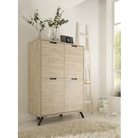 Palma Four Door High Sideboard - Sherwood Oak by Andrew Piggott Contemporary Furniture