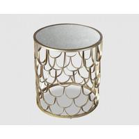 Lydia Side Table - Antique Silver Finish