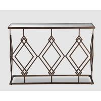 Berna Console Table - Bronze with clear glass top