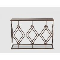 Berna Console Table - Bronze with smoke mirror top