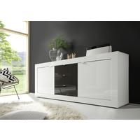 Urbino Collection Sideboard Two Doors/Three Drawers White Gloss/Anthracite by Andrew Piggott Contemporary Furniture