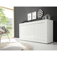 Urbino Collection Sideboard 3 Door - Gloss White Lacquer