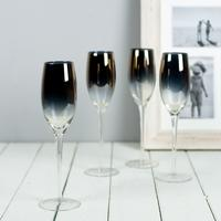 Gold Plated Champagne Flutes by The Orchard