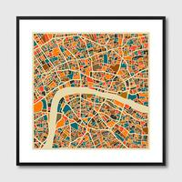 London Map Framed Print by Red Candy