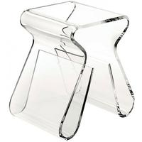 Umbra Magino Stool and Magazine Holder - Transparent
