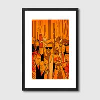 The Big Lebowski Framed Print by Red Candy