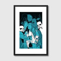 Star Wars Framed Print by Red Candy