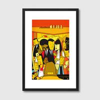 Pulp Fiction Quirky Framed Print