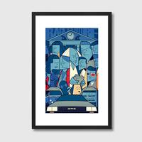 Back to the Future Framed Print by Red Candy
