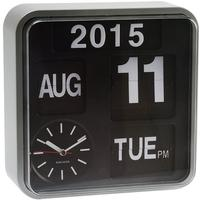 Karlsson Mini Flip Wall Clock - Silver by Red Candy