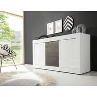 Urbino Collection Sideboard 3 Door - Gloss White Lacquer  and Wenge by Andrew Piggott Contemporary Furniture