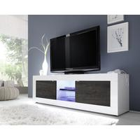 Urbino Collection Big TV Unit with LED Spotlight - Gloss White / Wenge by Andrew Piggott Contemporary Furniture