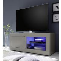 Urbino Collection Small TV Unit INCLUDING LED Spot Light - Matt Beige by Andrew Piggott Contemporary Furniture
