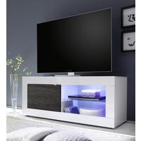 Urbino Collection Small TV Unit with LED Spotlight - Gloss White/Wenge by Andrew Piggott Contemporary Furniture