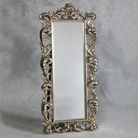 Extra large silver cheval dressing mirror French vintage style