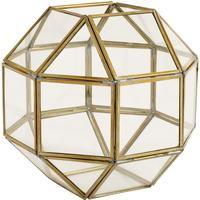 Polyhedron Lantern Metal and Glass