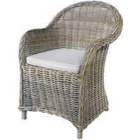 Grey Wash Rattan Armchair by The Orchard