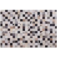 RIZE Beige Brown and Black Cow Hide Rug