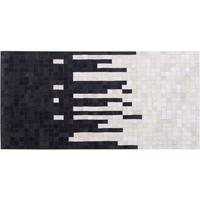 BOLU Black and White Skyline Cowhide Rug