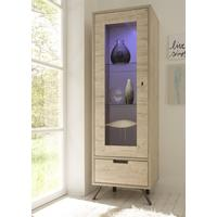 Palma Small Vitrine with LED Spot - Sherwood Oak finish by Andrew Piggott Contemporary Furniture