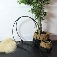 Metal Circle Log Holder by Out There Interiors