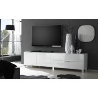 Solia Long Low White High Gloss Sideboard