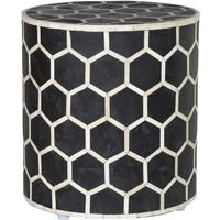 Bone Inlay Stool in Black and White by Out There Interiors