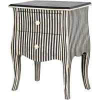 Bone Inlay Striped Two Drawer Bedside by Out There Interiors