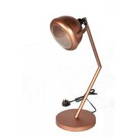 Round Industrial Table Lamp Lacquered Iron