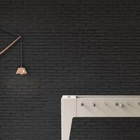 Black Brick Wallpaper by Piet Hein Eek
