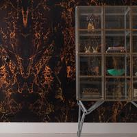 Black Metallic Marble Wallpaper by Piet Hein Eek