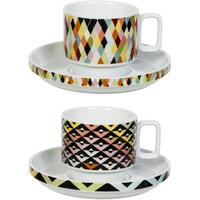 Viva Cup and Saucer Duo - Chevron