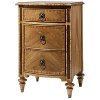 Spire Vintage Wooden Bedside Cabinet Three Drawers