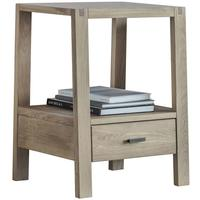 Kielder Simple Wooden Oak Bedside Table