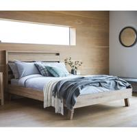"Kielder Simple Wooden 4ft 6"" Double Bed"