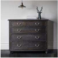 Safari Five Drawer Chest Charcoal
