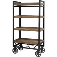 Tall Iron and Wood Trolley by Out There Interiors