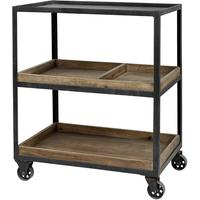 Iron and Wood Industrial Trolley