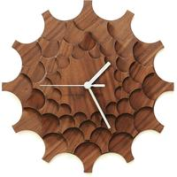 Cogwheel Wall Clock - Walnut by Red Candy