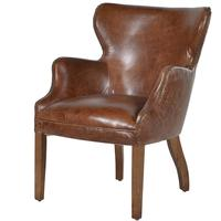 Havana Brown Leather Chair