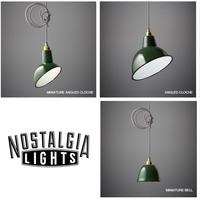 Nostalgia Lights Enamel Pendant Shade SET - Green