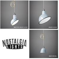 Nostalgia Lights Enamel Pendant Shade SET - Grey