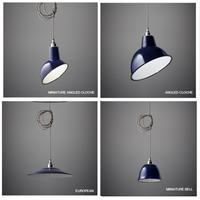 Nostalgia Lights Enamel Pendant Shade SET - Midnight Blue