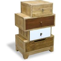 Natural Eclectic Four Drawer Chest