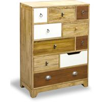 Natural Eclectic Ten Drawer Tall Chest Mango Wood